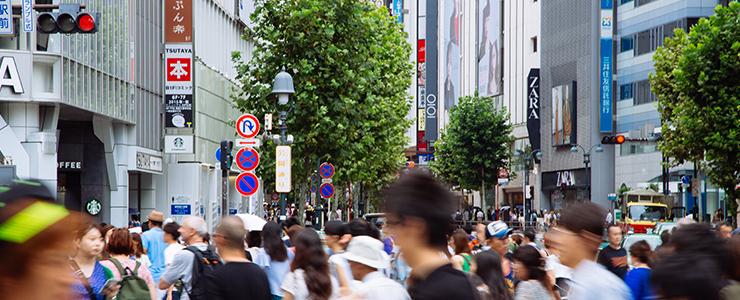 混雑する休日の渋谷