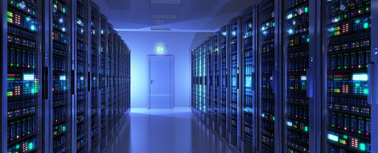 セキュリティ対策を施された出会い系サイトのサーバールーム